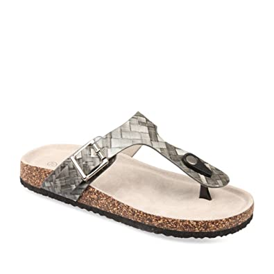 14ae3ce817e MERRY SCOTT Women s Thong Sandals grey Size  5  Amazon.co.uk  Shoes ...