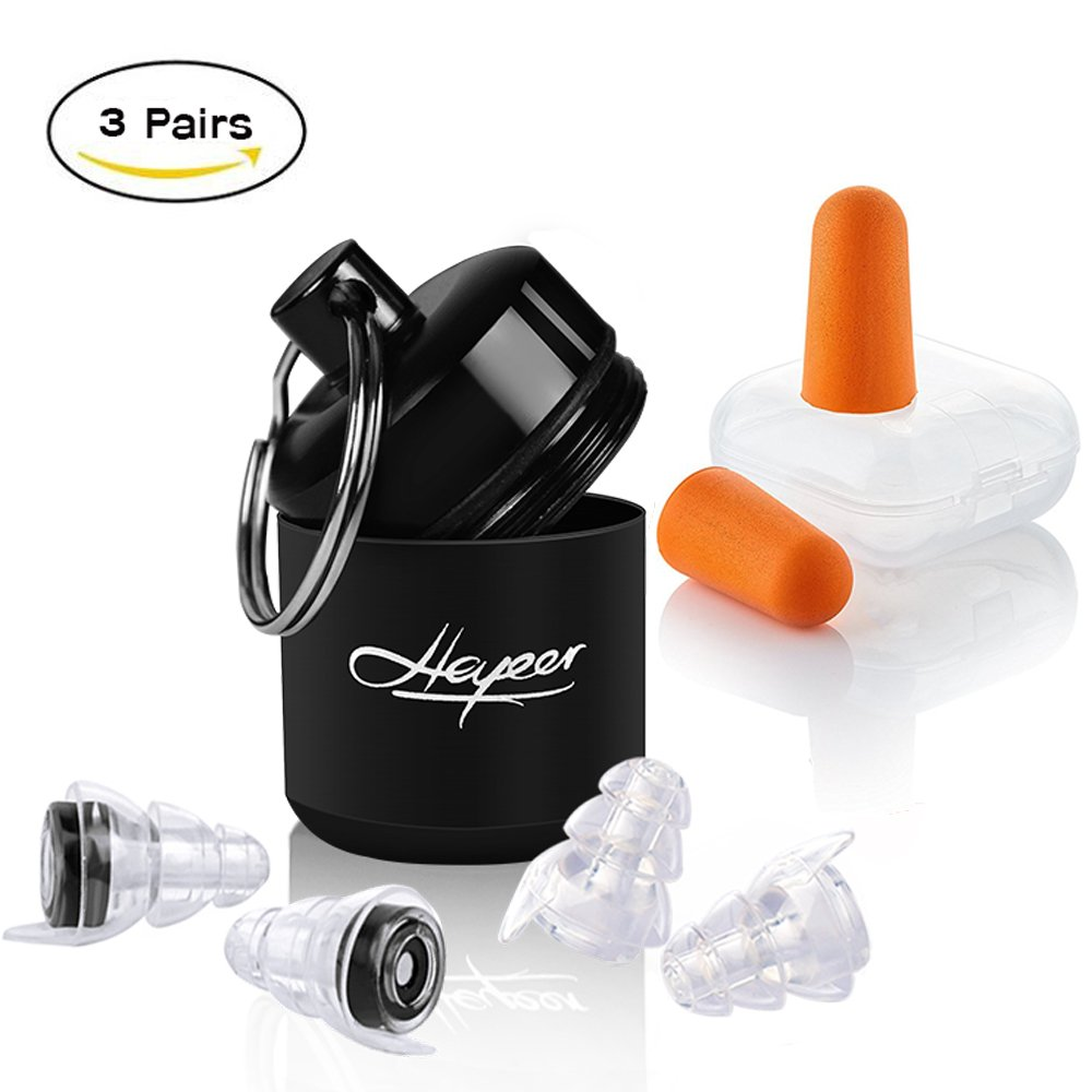 Ear Plugs Noise Reduction – High Fidelity Earplugs for Musician Concert,DJ,Nightclub,Drummers - Noise Cancelling Earplugs Hearing Protection for Sleeping,Shooting,Travel,Motorcycles,Construction Work