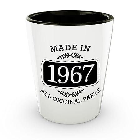50th cumpleaños vasos de chupito - nacido en 1967 ...