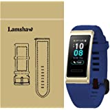 for Huawei Band 3 Pro Band, Lamshaw Classic Silicone Band for Huawei Band 3 Pro Fitness Activity Tracker (Blue)