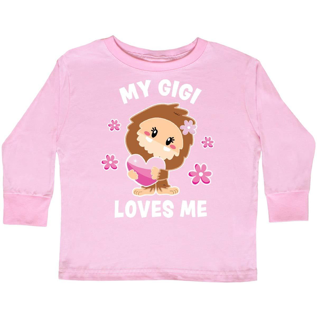 inktastic My Gigi Loves Me with Bigfoot Toddler Long Sleeve T-Shirt