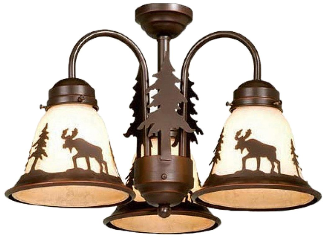 Rustic chandeliers lodge amp cabin lighting - Vaxcel Lk55616bbz C Yellowstone 3l Light Kit Burnished Bronze Brown Chandeliers Amazon Com