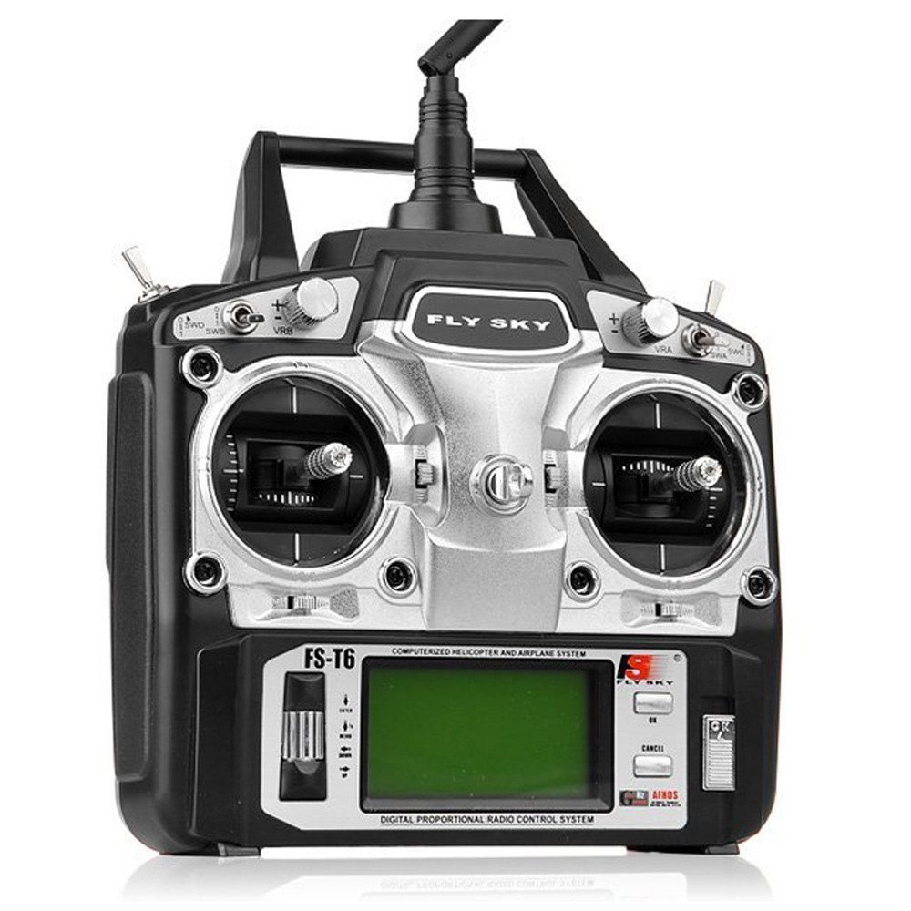 GoolRC FlySky FS-T6 2.4ghz Digital Proportional 6 Channel Transmitter and Receiver Model