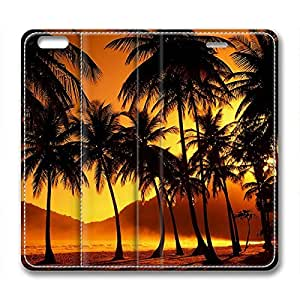 Beautiful Palm Trees Tropical Beach Sunset DIY Leather iphone 6 Case Perfect By Custom Service