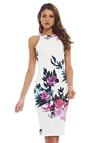 AX Paris Women's Floral Bodycon Midi Dress