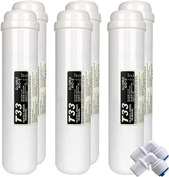 Syst/èmes Dosmose Inverse 25cm LZH FILTER Lot de 3 T33 Post Inline filtre 10 x 2-1//4 FPT pour Eau Potable