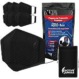 Active Jungle: Kit de 6 Cubrebocas 5 Capas de Protección Lavables +1 Bolsita Transportadora| Oreja Acolchonada | Antifluidos