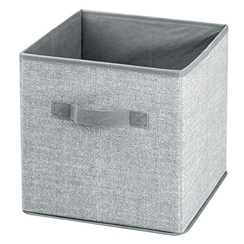 InterDesign Aldo Fabric Closet Storage Organizer Cube for Toys, Sweaters, Accessories - Pack of 2, Gray