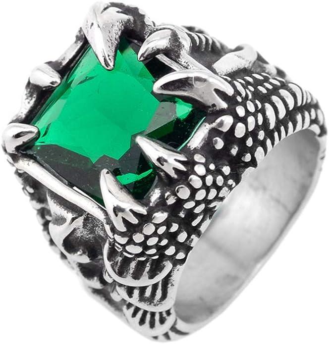 Amulet Ring PikaLF Dragon Ring for Men Punk Animal Dragon Jewelry for Men Boys Retro Domineering Dragon Rings Vintage Dragon Head Ring