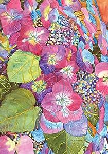 "Toland Home Garden diseño de flores, jardín bandera, tela, Pink/Blue/Green, House-L-28 x 40"""