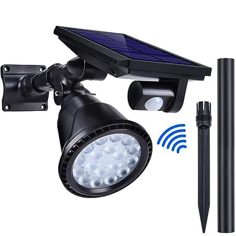 Lámparas Solares Oziral 4 métodos de iluminación montaje en el suelo o en la pared con
