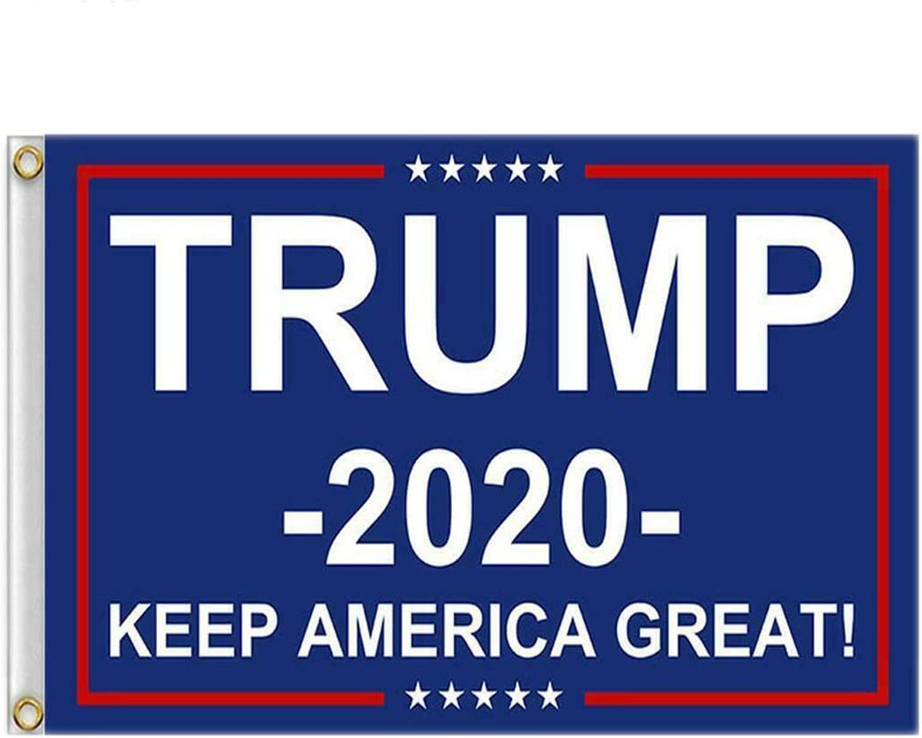 ERT Donald Trump Flag 3X5 Foot - 2020 Trump President Flags Keep America Great MAGA Flag 3x5 ft with Brass Grommets