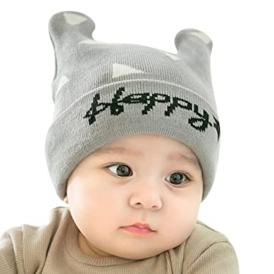 805360da825 Baby Knitted Hat - Cute Hats with Bear Ears for Newborn Kids Boys Girls  Lovely Soft Beanie Hat Warm Winter Cap for 0-5 Years  Amazon.co.uk  Clothing