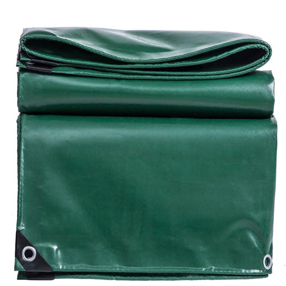CHAOXIANG オーニング 厚い 両面 防水 耐寒性 アンチサン シェード 耐摩耗性 耐食性 防塵の 軽量 PVC 緑、 530g/m 2、 厚さ 0.4mm、 14サイズ (色 : 緑, サイズ さいず : 5×7m) B07DC5VG8G  緑 5×7m
