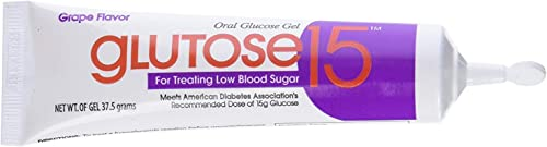 Glutose15 Oral Glucose Gel Grape Flavor, 3 – 1.3 oz Tubes, Pack of 6