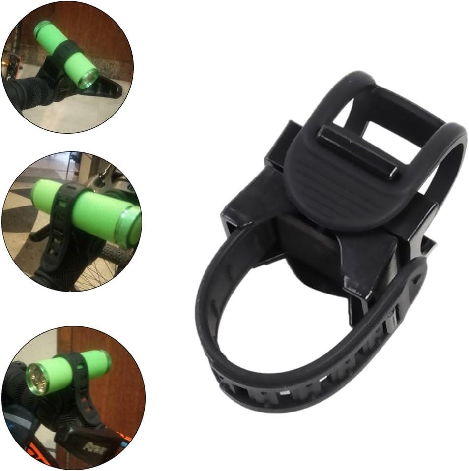 Universal Bicycle Flashlight Holder Mount 360 Degree Adjustable Rubber Straps
