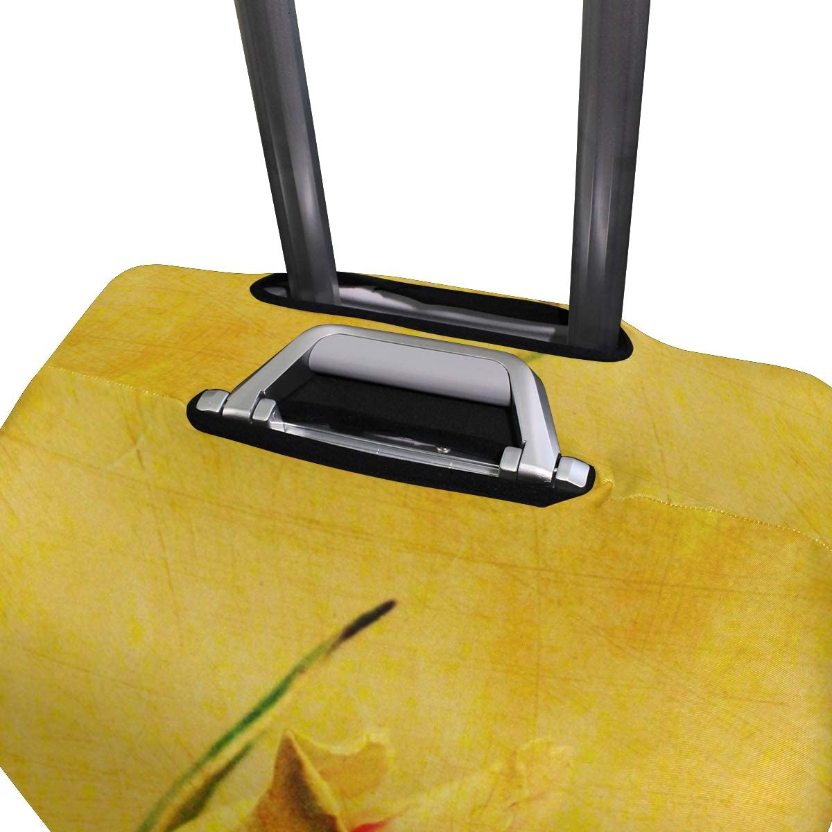 18//22//26//29 Inch Travel Suitcase Luggage Protective Cover with Yellow Rose