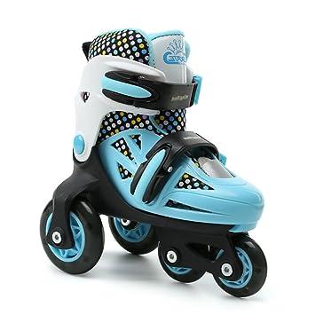 GESIMEI Patines Niña 4 ruedas Tamaño Ajustable Zapatillas Lavable Calzado Deportivo Patines Sobre Ruedas Unisexo Niños (Azul): Amazon.es: Deportes y aire ...