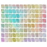 eBoot 96 Designs Nail Vinyls Nail Stencil Sticker Sheets Set for Nail Art Design, 24 Sheets, 288 Pieces