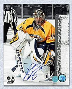 Pekka Rinne Nashville Predators Autographed Goalie Spotlight 8x10 Photo - Autographed Hockey Photos