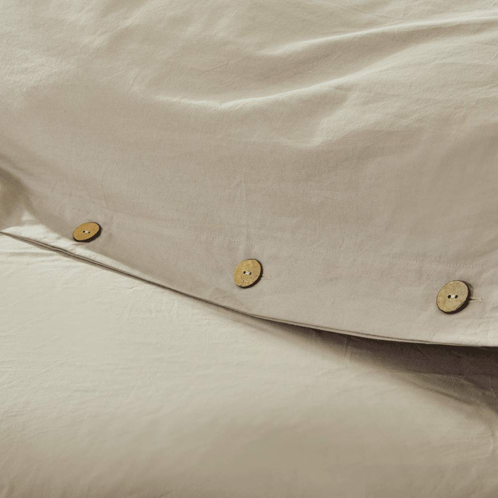 MH MYLUNE HOME 100/% Cotton 3pcs Duvet Cover Set,Full//Queen Size Bedding Set Comforter Cover for Women /& Men/'s Bedroom Guestroom Decor