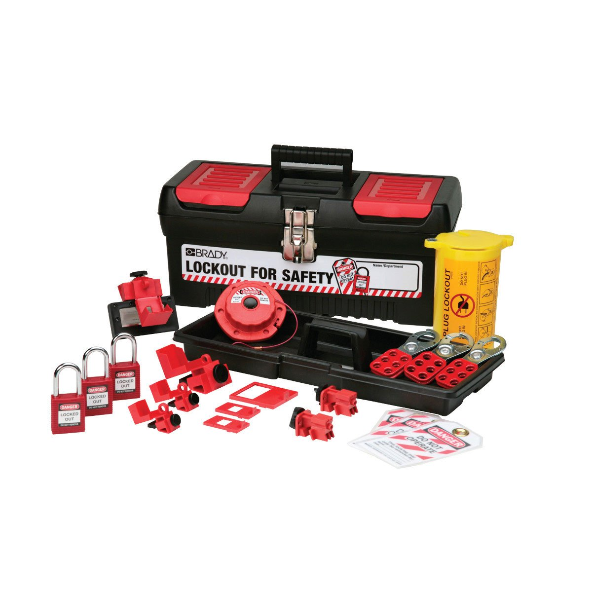 Brady Personal Electrical Lockout Toolbox Kit, Includes 2 Safety Padlocks