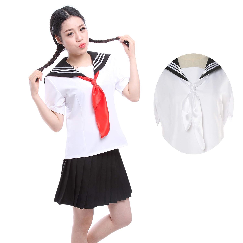 696a9b85d2 Amazon.com: Yandere Simulator Uniform,Nuoqi Japanese School Girls Uniform  Anime Black Cosplay Costume: Clothing
