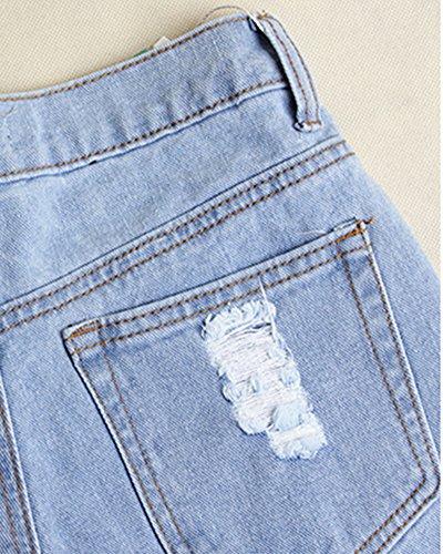 Jeggings Lightblu Leggins Stretti Donna Elastici Pantaloni Jeans 0qxOxd
