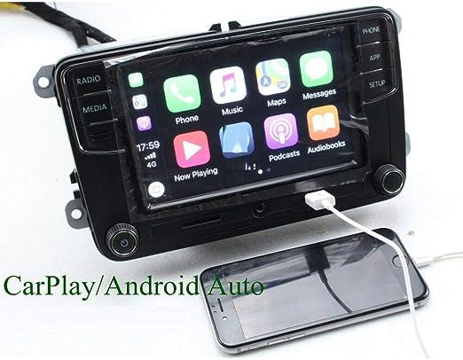 Radio estéreo de Coche OEM de 6.5 Pulgadas RCD330 for para Skoda Octavia Android Auto CarPlay Mirrolink Bluetooth SD AUX USB RVC: Amazon.es: Electrónica