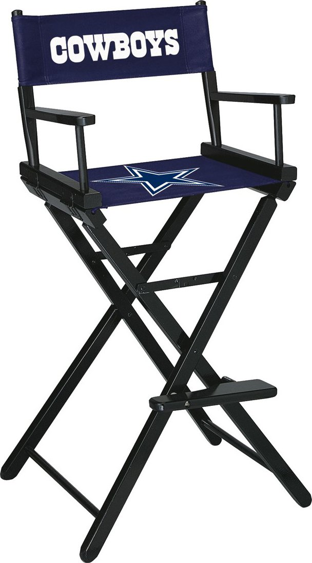 Imperial Officially Licensed NFL Merchandise: Directors Chair (Tall, Bar Height), Dallas Cowboys