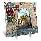 3dRose Danita Delimont - Architecture - Spain, Balearic Islands, Mallorca, church gateway. - 6x6 Desk Clock (dc_277909_1)