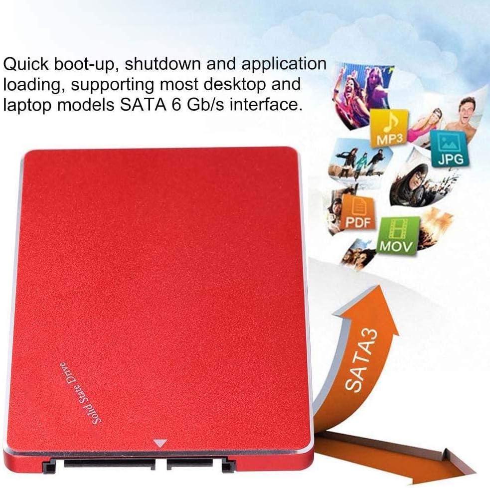 S Interne pour Ordinateur Portable Universel Rouge Lazmin 2.5  Disque SSD SATA3 MLC SSD SATA3 6.0Gb 240G