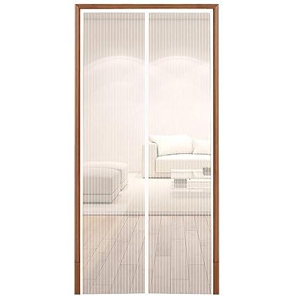 White Magnetic Screen Door,Heavy Duty Mesh Screen U0026 Full Frame Velcro Keep  Bugs
