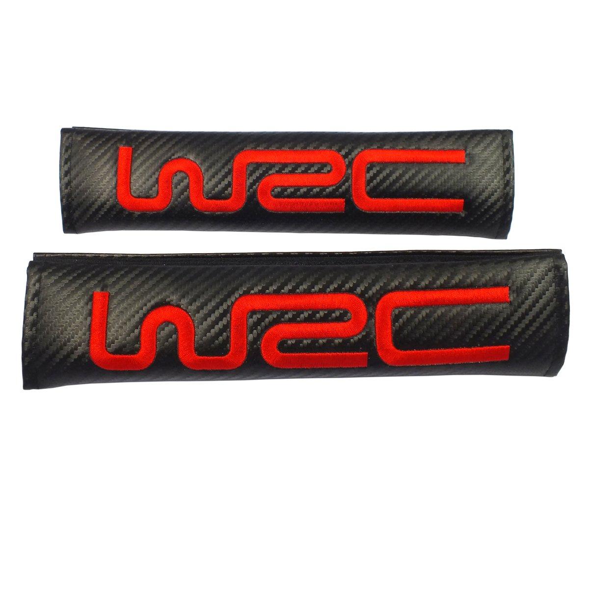 2pcs set WRC Belt Cover Shoulder Pads TNB New 1pcs Ford Keychain Lanyard Badge Holder