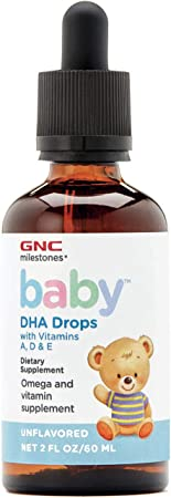 GNC Milestones Baby DHA Drops, 2oz, Omega Supplement for Babies and Children