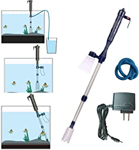 LONDAFISH Electric Fish Tank Vacuum Cleaner Syphon Operated Gravel Water Filter Cleaner Sand Washer