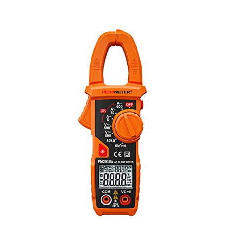 amazon com peakmeter pm2018a digital clamp meter handheld lcd rh amazon com Hand Held Squeeze Clamps Hand Held Vice Grip