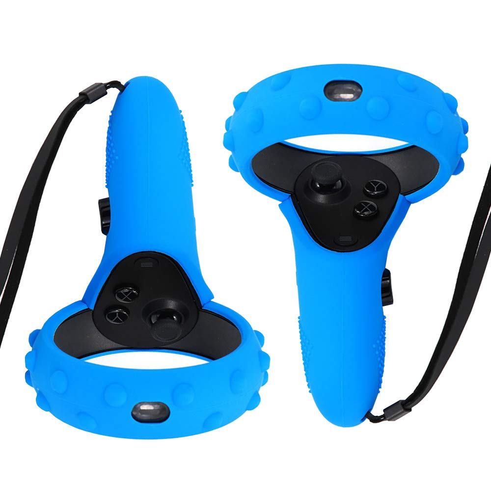 ProCase Controller Skin for Oculus Quest Touch Controller, 1 Pair Silicone Grip Cover Anti-Slip Protective Case for Oculus Quest/Rift S Handle -Blue