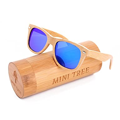 61a1765b262c Mini Tree Shades For Mens Sunglasses Polarized Handcraft Bamboo Women  Vintage Sun Glasses (Bamboo