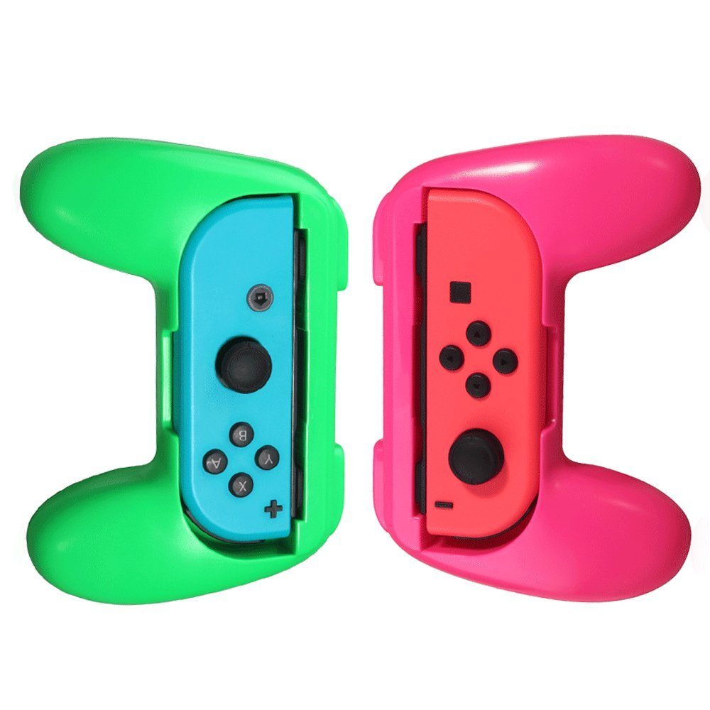 DOBE Switch Joy-Con Grips for Nintendo Switch Controller,Joy-con Handle for Nintendo Switch, 2 Pack Green & Pink)