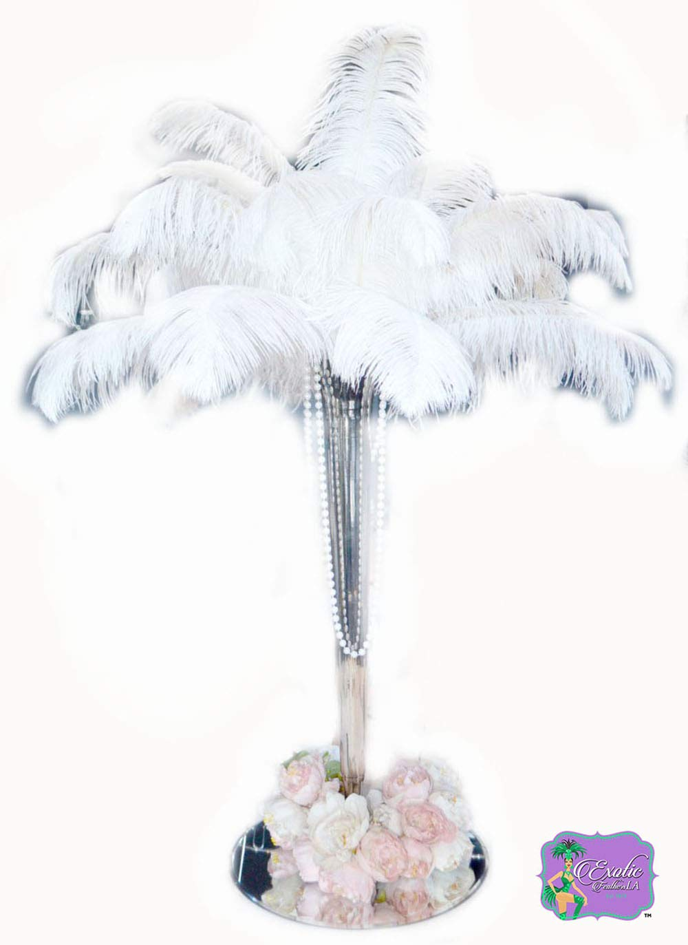 Special Sale Genuine OSTRICH Feathers Wholesale Bulk 10-14'' long DELUXE Feathers BLEACH WHITE (100 pieces)