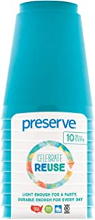 product image for Preserve Go Lightweight BPA Free 16 Ounce Cups Made from Recycled Plastic in t Kitchen Supplies, Aqua