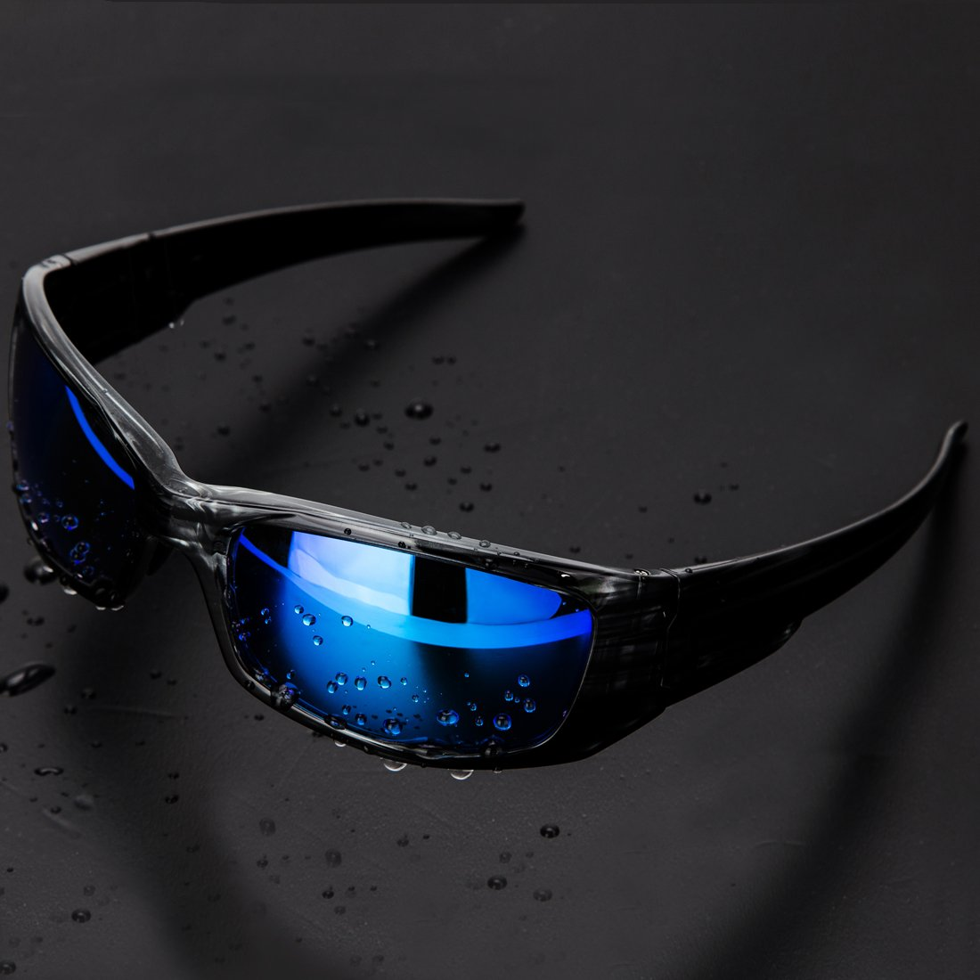 Mirrored Integrated Polarized Lens Unbreakable Frame SLY002-1 LVXING1 Shieldo Polarized Sports Sunglasses for Men and Women Running Cycling Fishing