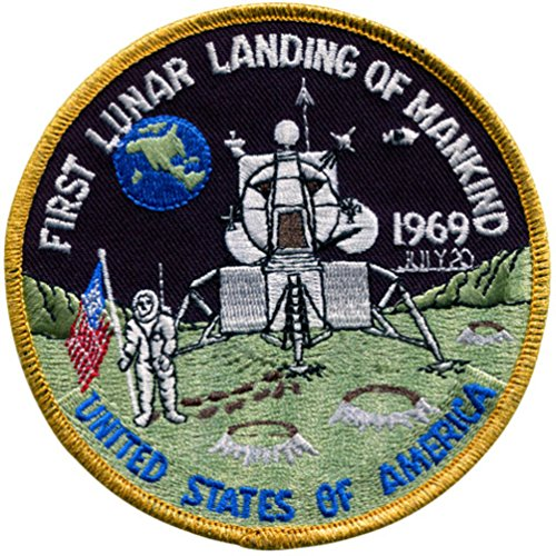 1st Lunar Landing Embroidered Patch (Official Patch) 10cm Dia approx by (1st Lunar Landing)
