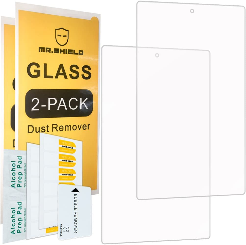 [2-PACK]-Mr.Shield For Fire HD 10 / Fire HD 10 Kids Edition [Tempered Glass] Screen Protector [0.3mm Ultra Thin 9H Hardness 2.5D Round Edge] with Lifetime Replacement