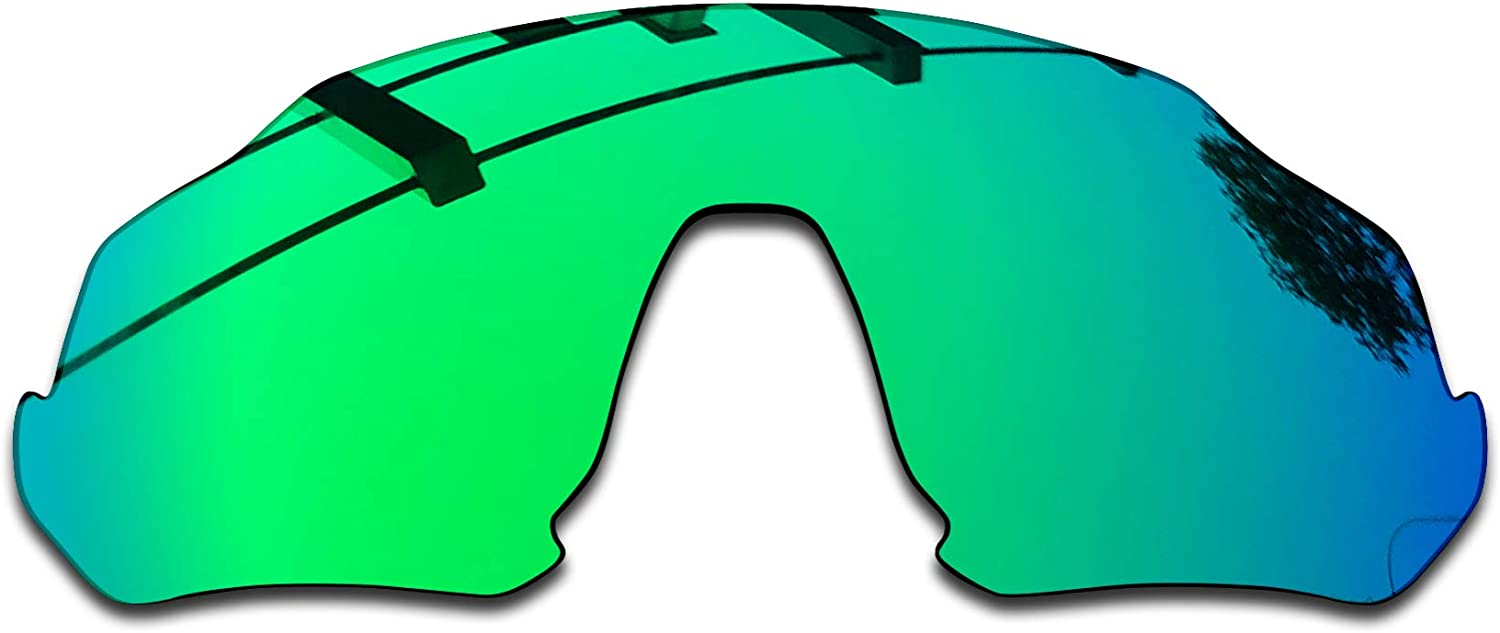 SEEABLE Premium Polarized Mirror Replacement Lenses for Oakley Flight Jacket OO9401 Sunglasses - Jade Mirror