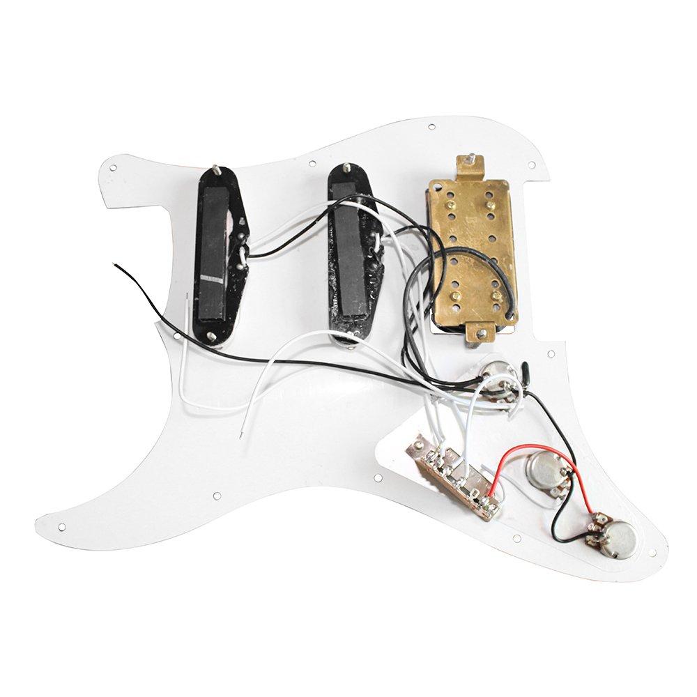 Amazon.com: ammoon 3-ply SSH Loaded Prewired Humbucker Pickguard ...
