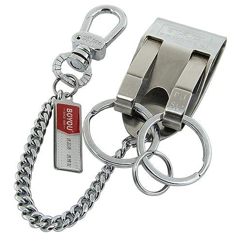 Amazon.com: Llavero de acero inoxidable con clip para ...