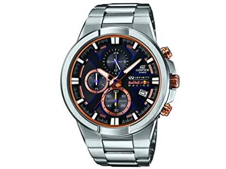 fcab6b9dc3d8 Casio Mens Stainless Steel Quartz EFR544RB1AER Edifice Red Bull Racing  Chronograph Wrist Watch  Amazon.co.uk  Watches
