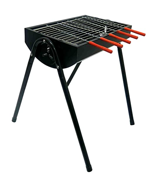 Fabrilla Charcoal Barbeque Grill Set with Legs (Black)